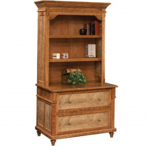 Bridgeport Lateral File with Amish Bookcase Option