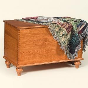 Vintage Cherry Amish Blanket Chest
