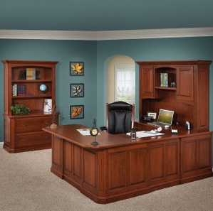 Buckingham U Shaped Desk & Lateral File with Optional Hutches