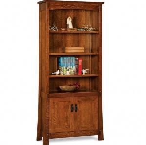 Modesto Amish Bookcase Cabinet