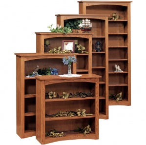 Shaker Bookcase with Optional Doors