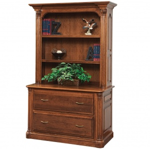Jefferson Lateral File with Amish Bookcase Option