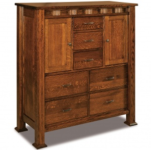 Sequoyah His & Her's Amish Chest of Drawers with 2 Doors