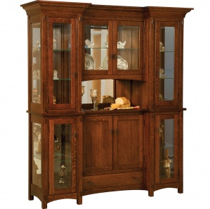 Alvada 4 Door Amish Buffet & Optional Hutch