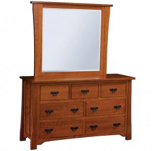 Linden Street Amish Dresser with Mirror Option