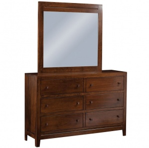 Lago 6 Drawer Dresser with Optional Mirror