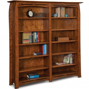 Boulder Creek 10 Shelf Double Bookcase