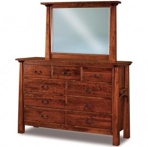 Artesa 9 Drawer Amish Dresser & Optional Mirror