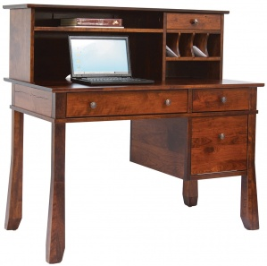 Craftsman Computer Desk & Optional Hutch