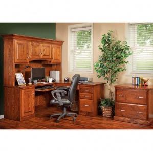 Hampton Deluxe Amish Office Furniture Set