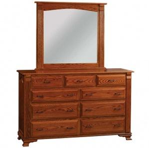 Bassinger 9 Drawer Amish Dresser with Optional Mirror