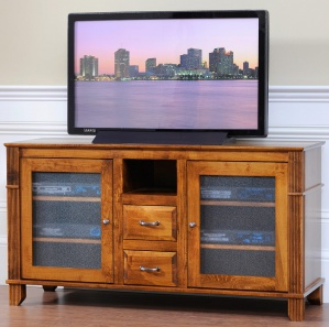 Arlington Heights Amish TV Console with Open Shelf