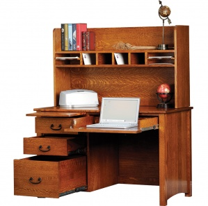"""Rivertowne 48"""" Amish Desk with 3 Drawers & Optional Hutch"""