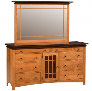 Maple Creek Amish Dresser with Optional Mirror