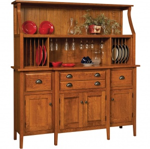 Stowell Amish Buffet & Optional Hutch
