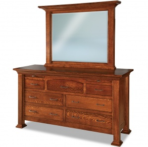 Empire 7 Drawer Amish Dresser with Mirror Option