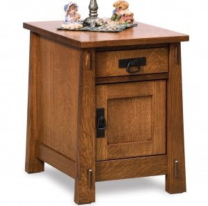 Mariposa Amish End Table Cabinet