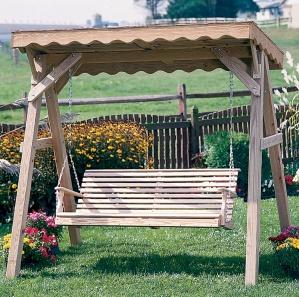 Cedar Roof A Frame Swing Stand