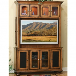 Cable Mill Media Cabinet with Optional Hutch