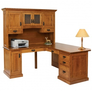Homestead Corner Amish Desk with Hutch Option