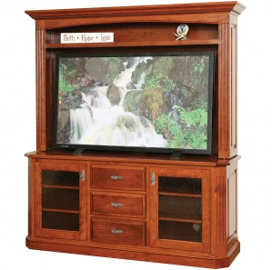 Buckingham Amish TV Stand with Hutch Option