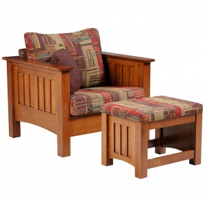 Willowbrook Amish Chair with Ottoman Option