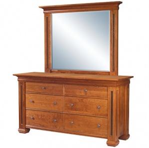 Timber Ridge 7 Drawer Amish Dresser & Beveled Mirror Option