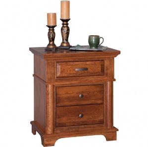 Lindenhurst 3 Drawer Amish Nightstand