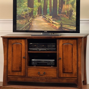 Midtown Amish TV Cabinet with Drawer