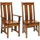 Colebrook Ebony Inlaid Amish Dining Chairs