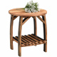 King's Inn Barrel Stave Amish End Table