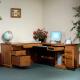 Highland Executive Amish Desk with Hutch Option