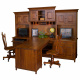Henry Stephen's Amish Partner Desk with Hutch Option