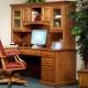 Highland Amish Executive Corner Computer Desk & Optional Hutch