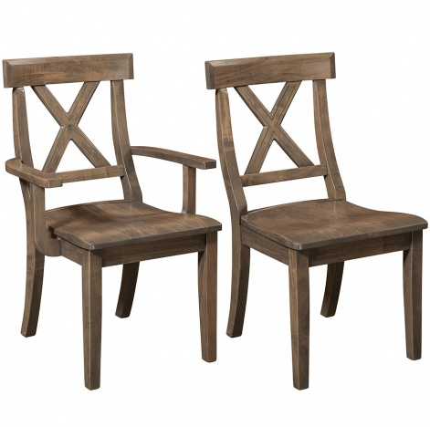 Vornado Amish Dining Chairs  sc 1 st  Cabinfield & Cross Back Chairs:Amish Handmade Dining Chairs Farmhouse Chairs ...