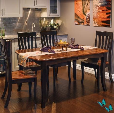 Canterbury 5 Piece Amish Kitchen Table Set