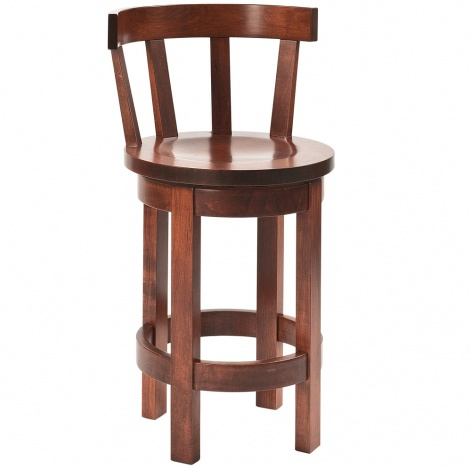 Barrel Amish Bar Stool with Meribeth Top