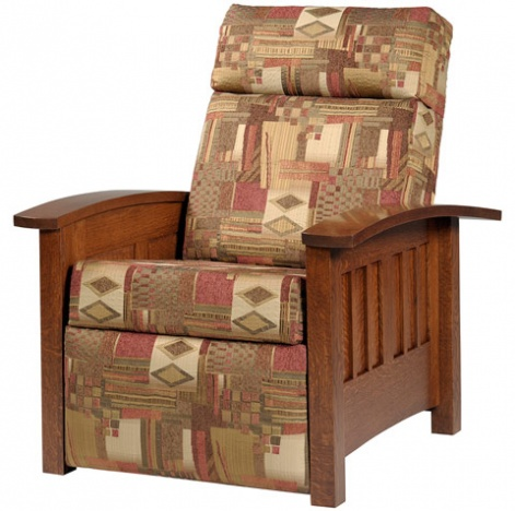 Willowbrook Recliner  sc 1 st  Cabinfield & Recliner Armchair: Amish Solid Wood Lounger u0026 Leather Upholstery ... islam-shia.org