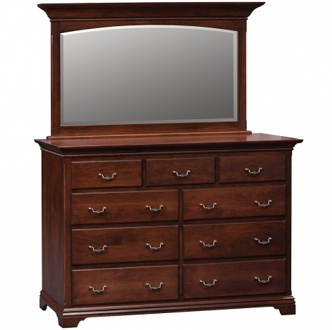 Traditional Dresser Mirror Optional Amish Solid Wood