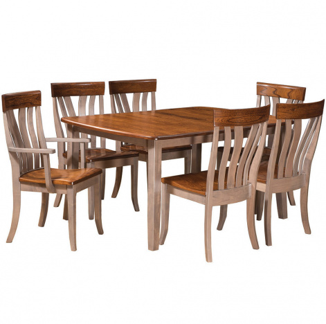 Lennox Amish Dining Table Set Room Cabinfield Fine Furniture