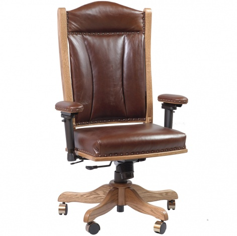 Astonishing Marbridge Amish Desk Chair With Adjustable Arms Andrewgaddart Wooden Chair Designs For Living Room Andrewgaddartcom