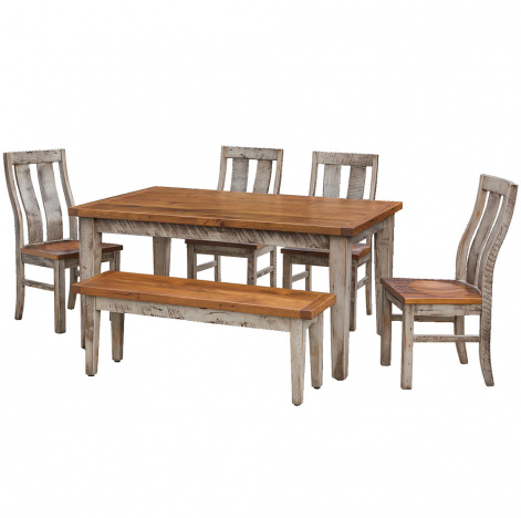Croft Barnwood Amish Kitchen Table Set