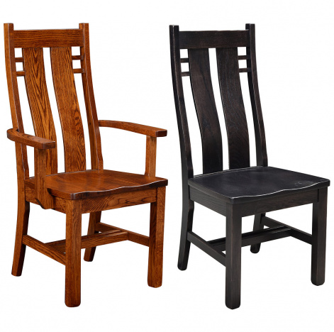 Awesome Bungalow Amish Dining Chairs Beutiful Home Inspiration Xortanetmahrainfo