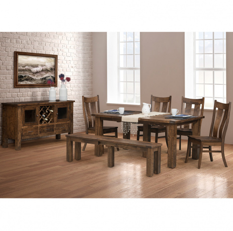 Orland Park Amish Dining Table Set Farmhouse Style Cabinfield Fine Furniture
