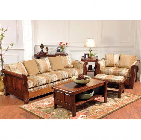 Belvedere Sleigh Amish Living Room Furniture Set Cabinfield Fine