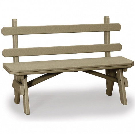 Amish Outdoor Benches Garden Bench With Back Handmade Furniture
