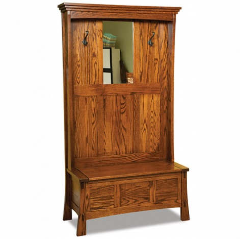 Incredible Paloma Amish Hallway Storage Bench With Coat Tree Machost Co Dining Chair Design Ideas Machostcouk
