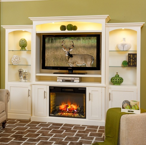 Pleasing Mayfair Amish Fireplace Entertainment Center With Side Towers Option Interior Design Ideas Apansoteloinfo