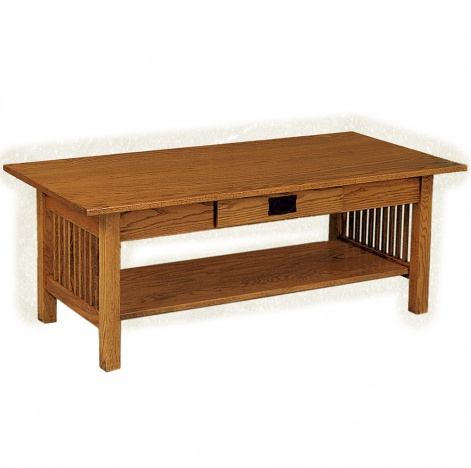 Rectangle coffee table amish mission wooden coffee table for Carmichael storage