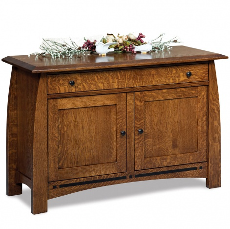 Sofa Table Cabinet Amish Wooden Console Table Storage Cabinet Chest Boulder Creek